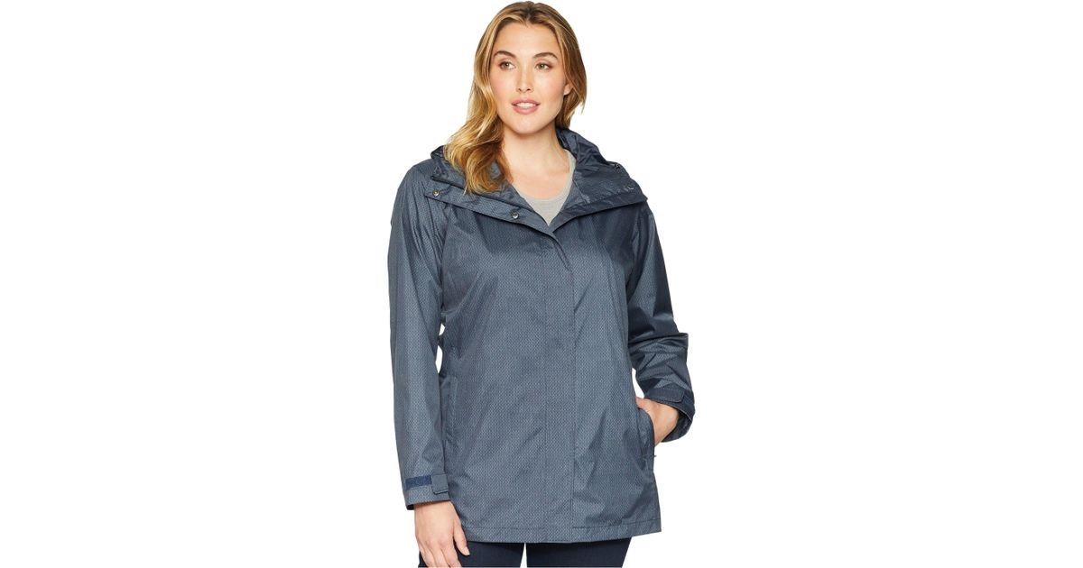 0ddd04fd9e8ae Lyst - Columbia Plus Size Splash A Little Ii Rain Jacket in Blue - Save 27%