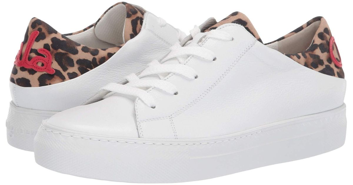 14244ed5f337 Lyst - Paul Green Ajay Sneaker (white Leopard Combo) Women's Lace Up Casual  Shoes in White