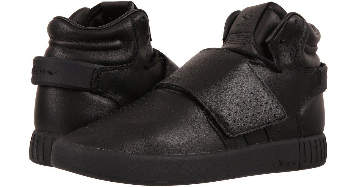 lowest price 54148 1516e Adidas Originals - Black Tubular Invader Strap for Men - Lyst