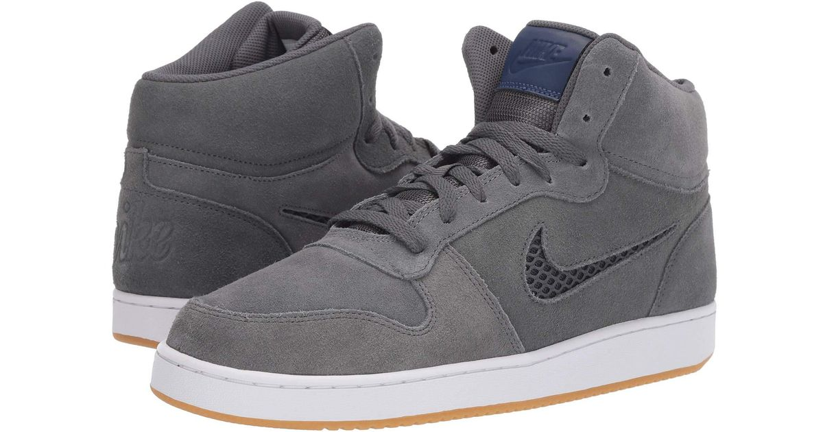 first rate 1a00e 7d37c Nike Ebernon Mid Premium (dark Grey blue Void white) Men s Shoes in Gray  for Men - Lyst