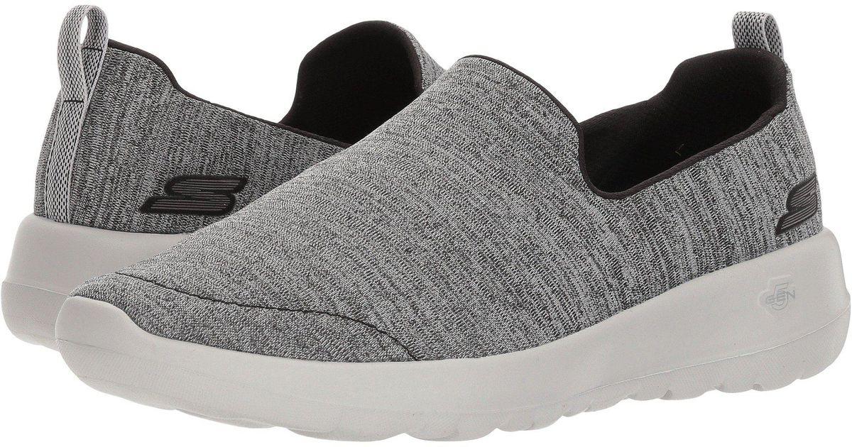 159afb4ff3d1 Lyst - Skechers Go Walk Joy - Enchant (black gray) Women s Slip On Shoes in  Gray