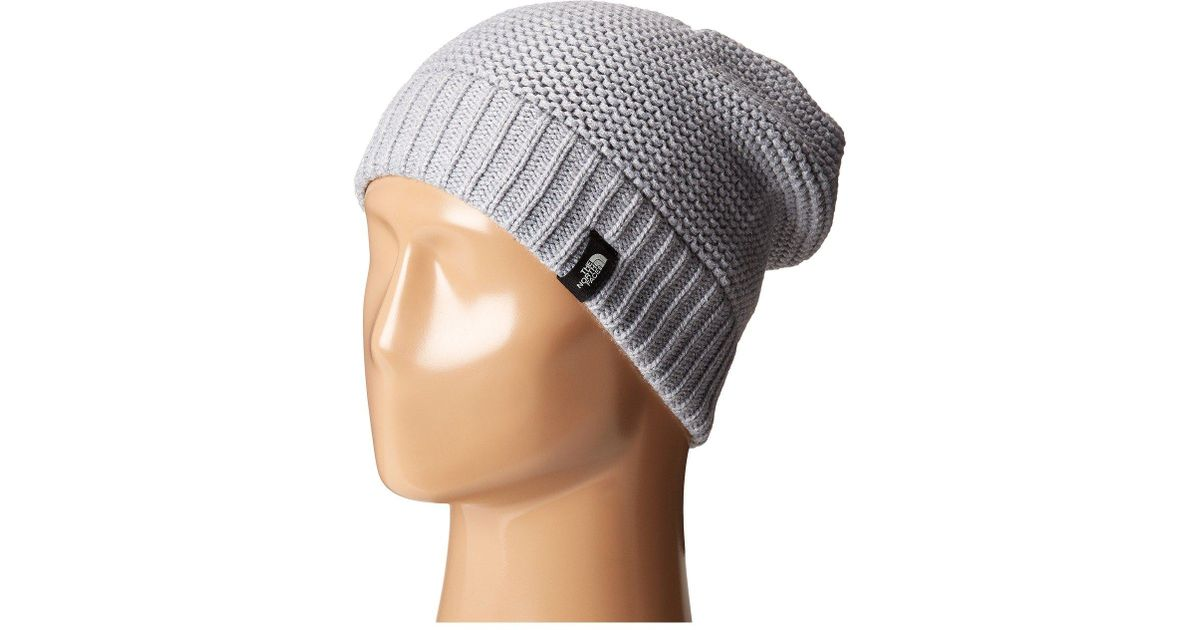 8ecebca342 Lyst - The North Face Purrl Stitch Beanie in Gray
