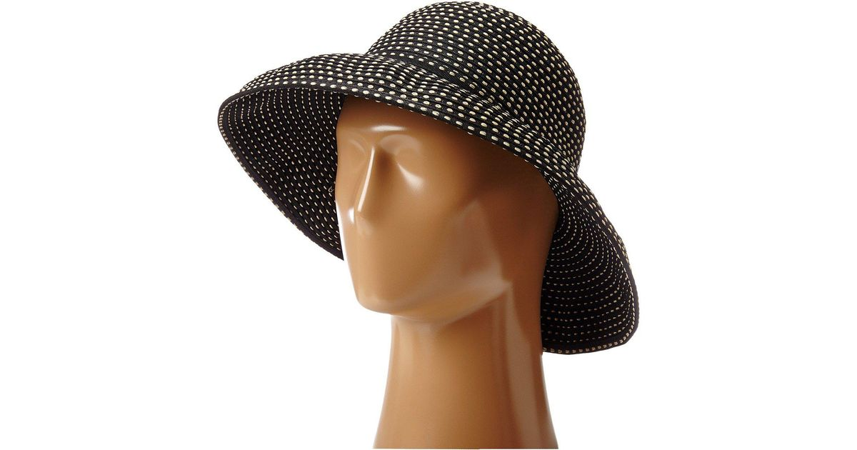 b792201424a Lyst - San Diego Hat Company Rbm4784 Ribbon Kettle Brim Hat (black)  Traditional Hats in Black
