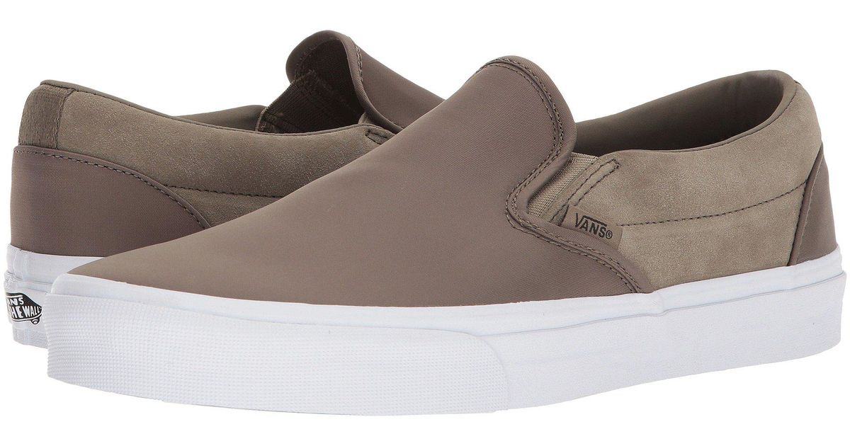ebcee8b81fe3 Lyst - Vans Classic Slip-ontm ((embossed Suede) Frost Gray true White)  Skate Shoes in Brown for Men