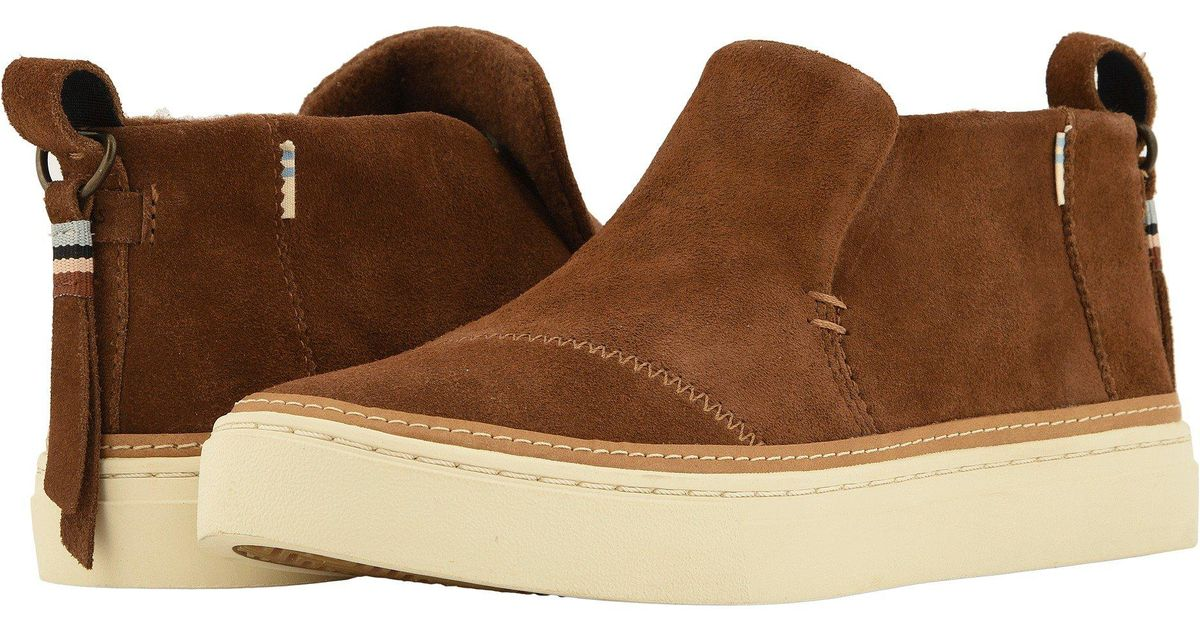 62e9d230237a Lyst - TOMS Paxton Water-resistant Slip-ons (birch Suede faux Fur) Women s  Slip On Shoes in Brown
