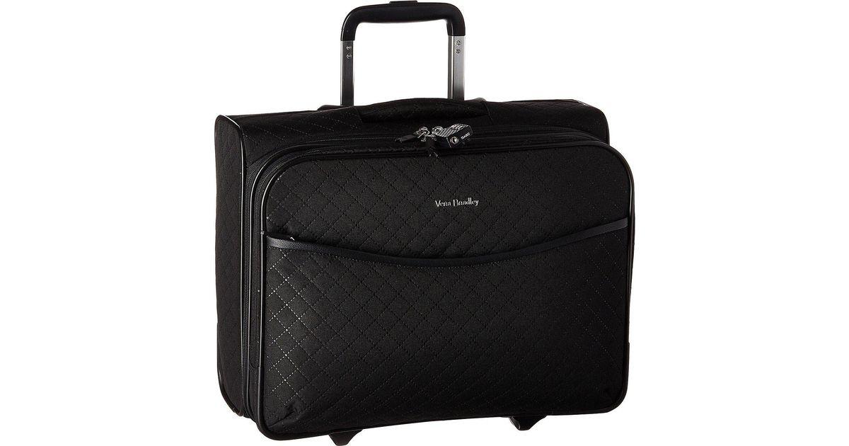 a58273ec1 Vera Bradley Iconic Rolling Work Bag in Black - Lyst
