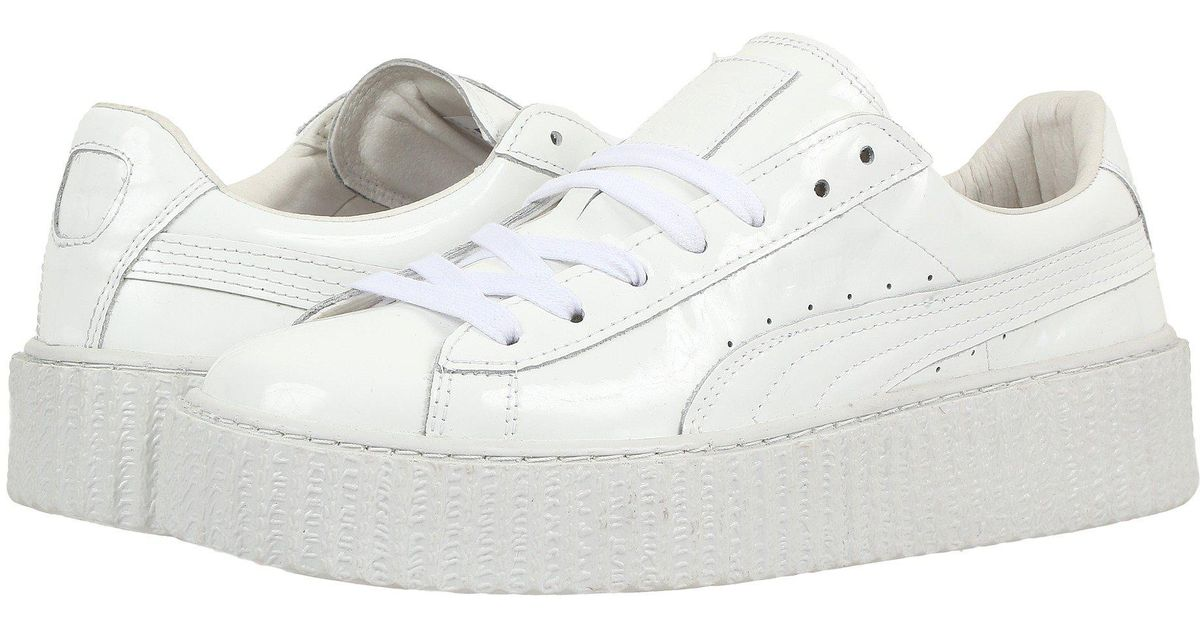8fa64ba7526d6a Lyst - PUMA Basket Creepers Glow Rihanna Sneakers in White