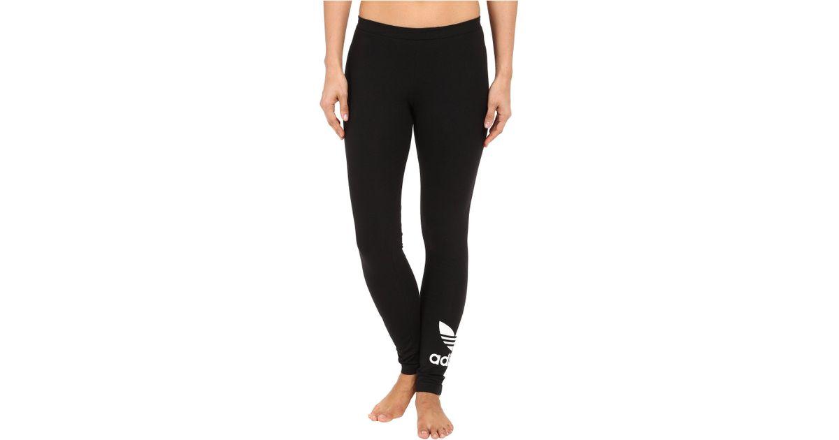 3a16bc06f4f1c9 adidas Originals Trefoil Leggings in Black - Lyst