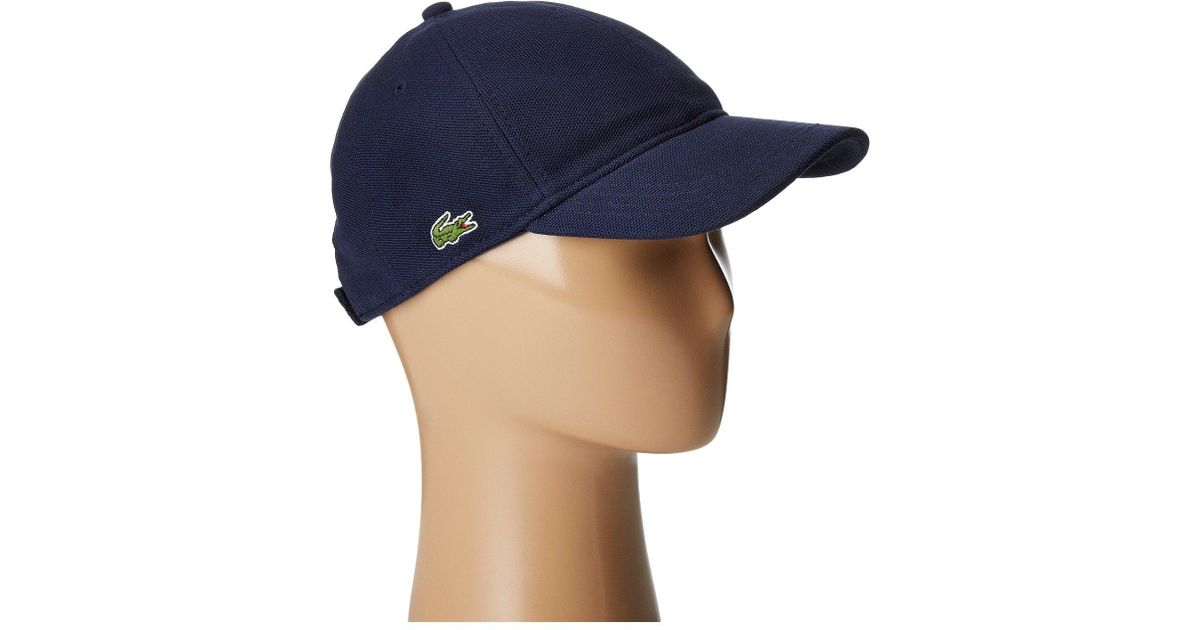 Lyst - Lacoste Cotton Pique Cap (white) Caps in Blue for Men 8ca414235fd