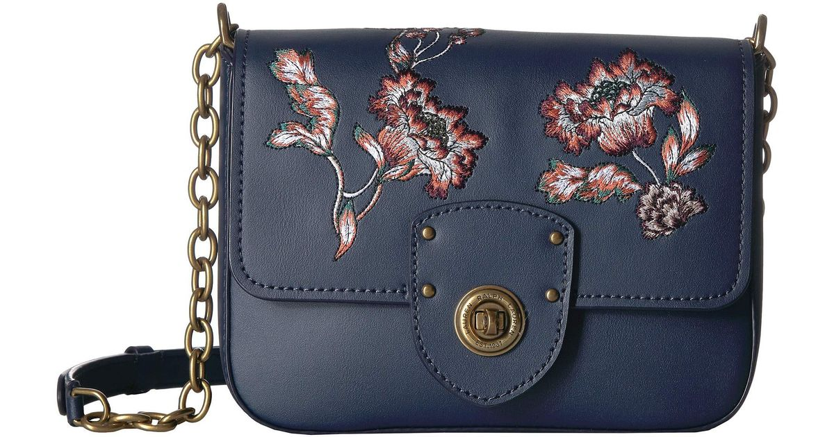 a990caac0c Lyst - Lauren by Ralph Lauren Millbrook Chain Crossbody in Blue