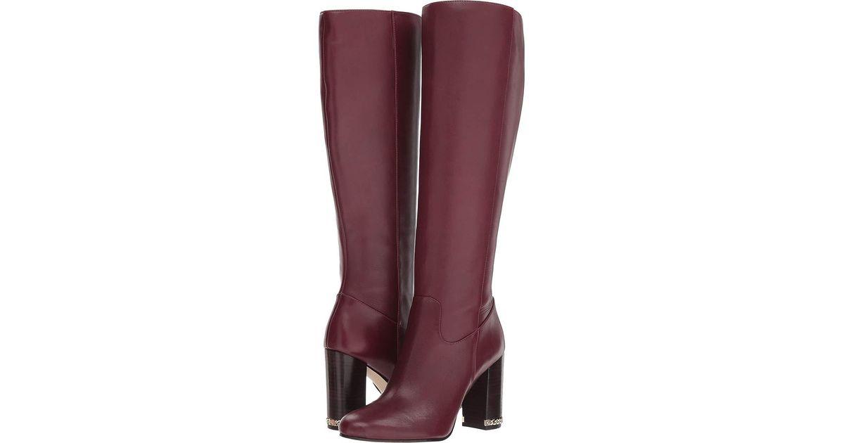 1b2d5dcb642df Lyst - MICHAEL Michael Kors Walker Boot (black Vachetta) Women s Boots in  Purple
