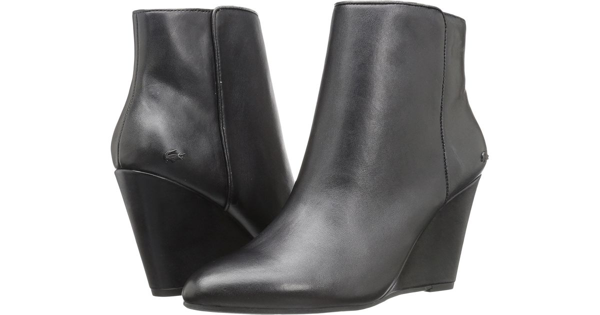 b28368989 Lyst - Lacoste Alaina Boot 316 1 in Black