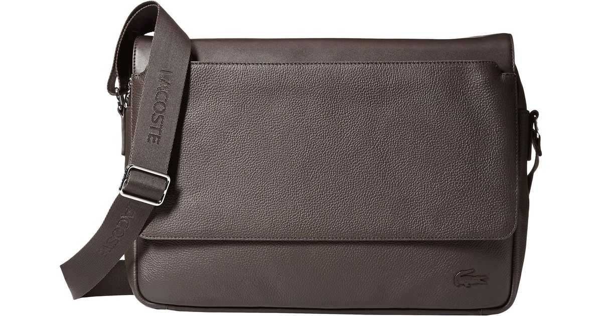 4e1978b890fde Lyst - Lacoste Rafael Leather Messenger Bag in Brown for Men