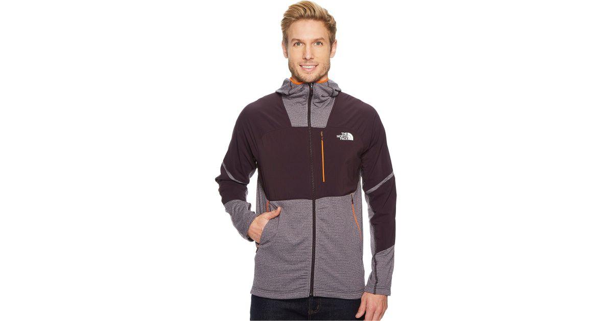 56850aca0370 Lyst - The North Face Progressor Power Grid Fleece Hoodie in Purple for Men