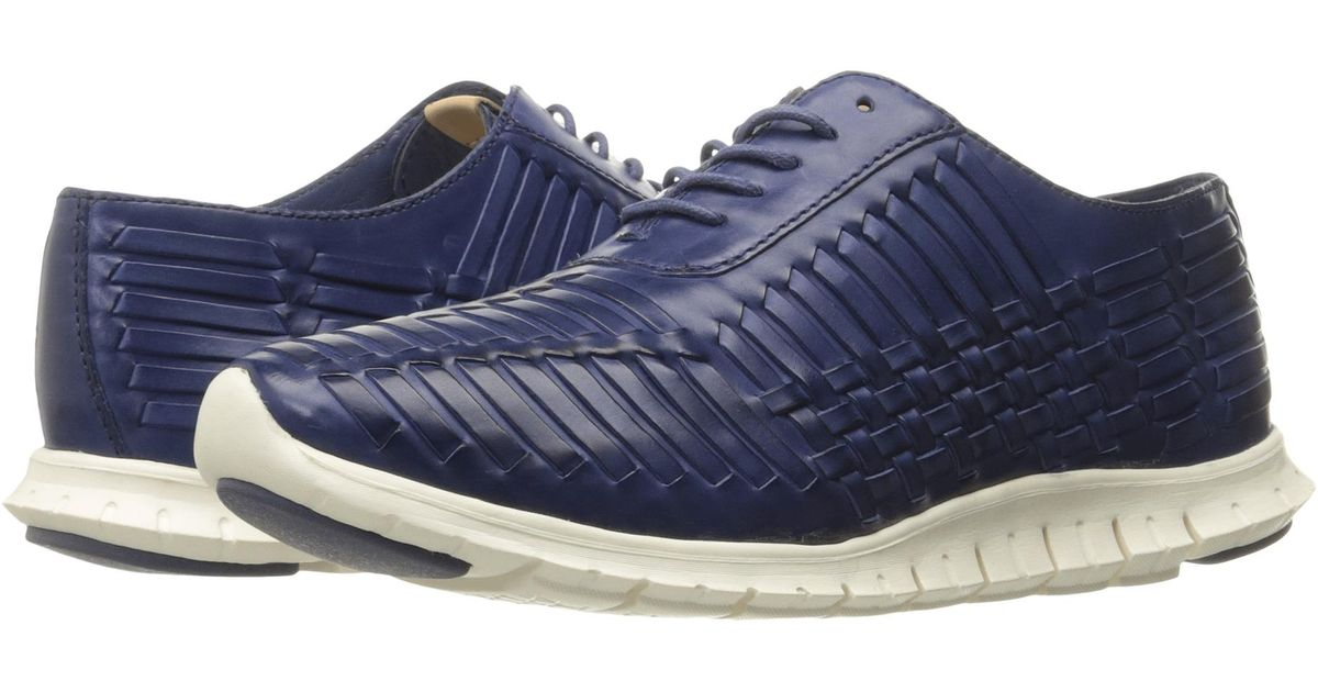 77a0301ff364 Lyst - Cole Haan Zerogrand Huarache Oxford in Blue for Men
