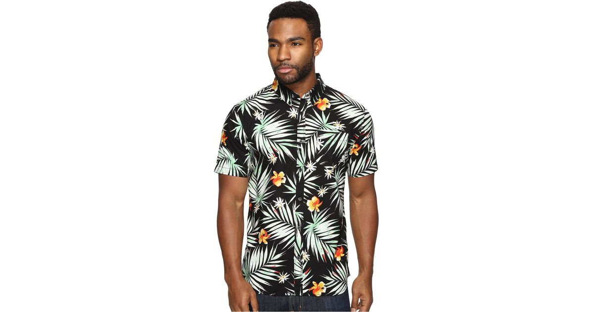 81c6f18231 Lyst - Vans Daintree Hawaiian Shirt In Black Va315tkvr in Black for Men