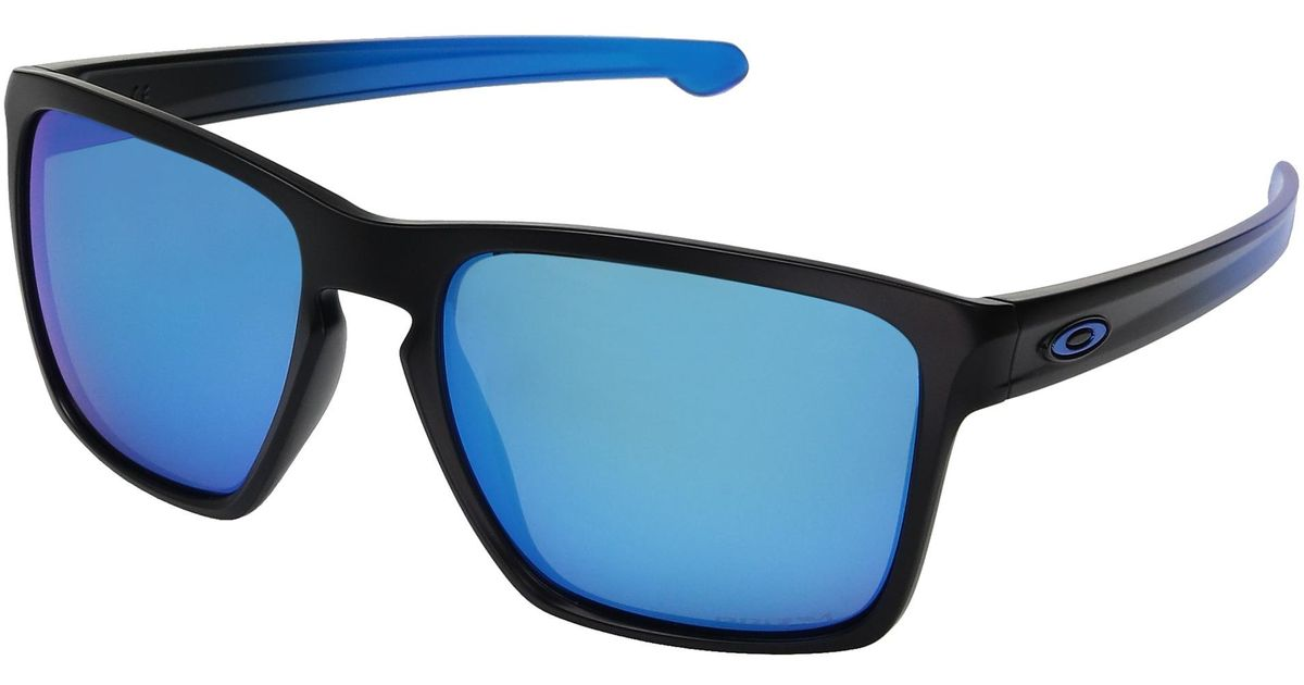 f117e2f1aafc Lyst - Oakley Sliver Xl (polished Black W  Prizm Deep Water Polarized)  Fashion Sunglasses in Blue - Save 2%