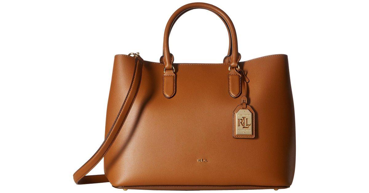 186dbb615c Lyst - Lauren by Ralph Lauren Dryden Marcy Tote in Brown