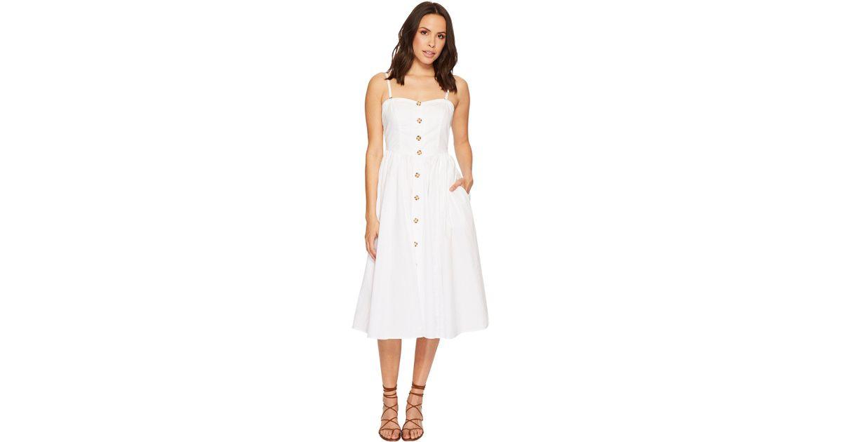 6856105cdfac0 Free People Perfect Peach Poplin Midi Dress in White - Lyst