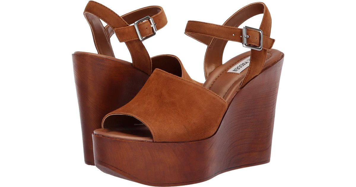 3006945badc4 Lyst - Steve Madden Bellini Wedge Sandal in Brown - Save 43%