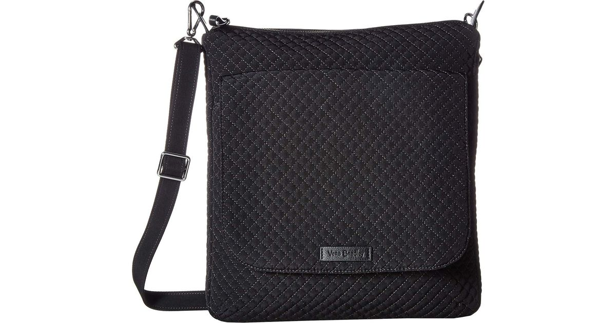 Lyst - Vera Bradley Carson Mailbag (classic Black) Bags in Black d8ddc82966333