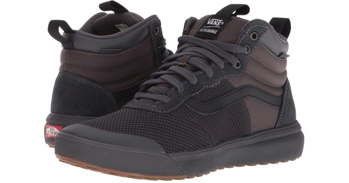 a7ccbbfd1f6a Lyst - Vans Ultrarange Hi (peat black) Men s Skate Shoes in Black for Men