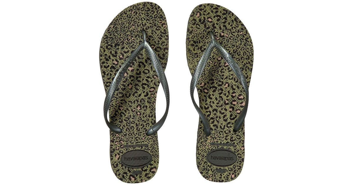 1ce6d004a Lyst - Havaianas Flip Flops Slim Animals in Green