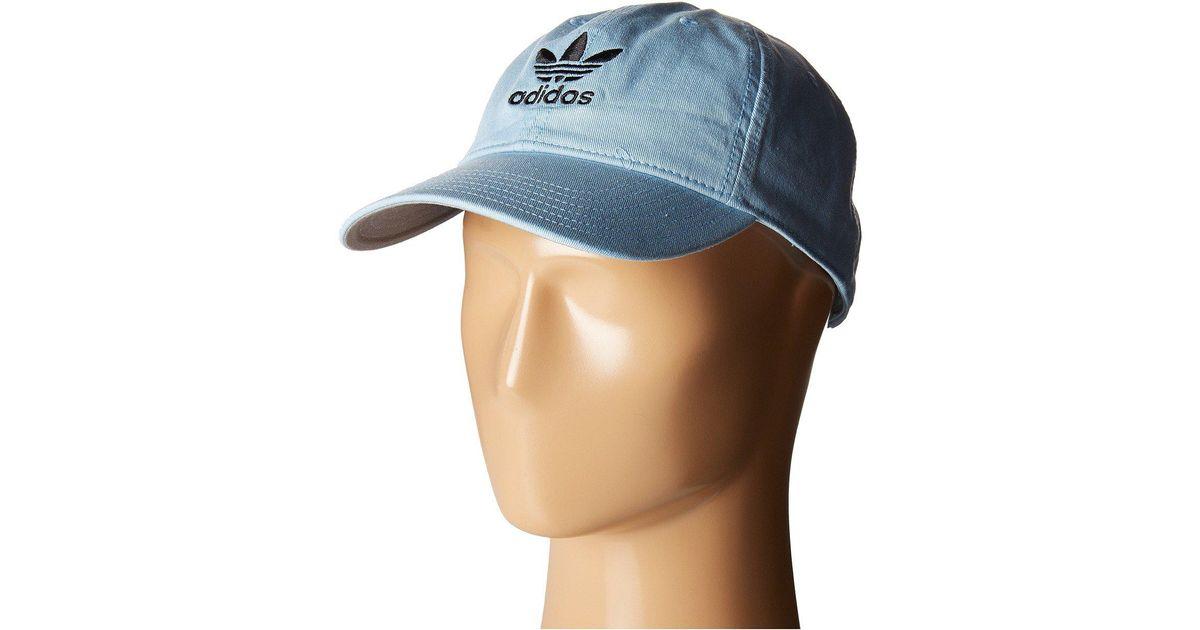 ccdea1bd426 Lyst - adidas Originals Originals Relaxed Strapback Hat (blue black) Caps  in Blue for Men