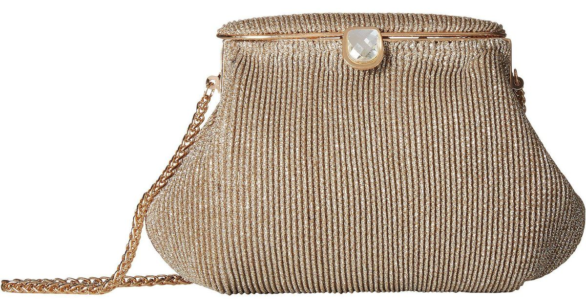Lyst Adrianna Papell Sheryl Gold Special Occasion Handbags In Metallic