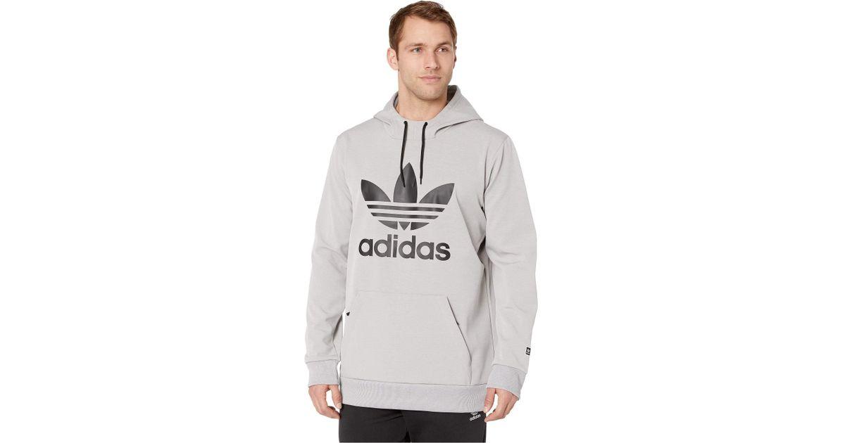 fb799dd4dffc Lyst - adidas Originals Team Tech Hoodie (black white) Men s Sweatshirt in  Gray for Men