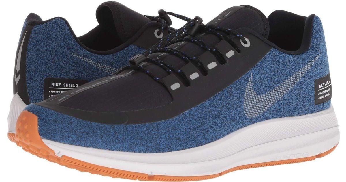 2eb911473e4 Lyst - Nike Air Zoom Winflo 5 Run Shield (black metallic Silver hyper  Royal) Men s Running Shoes in Metallic for Men