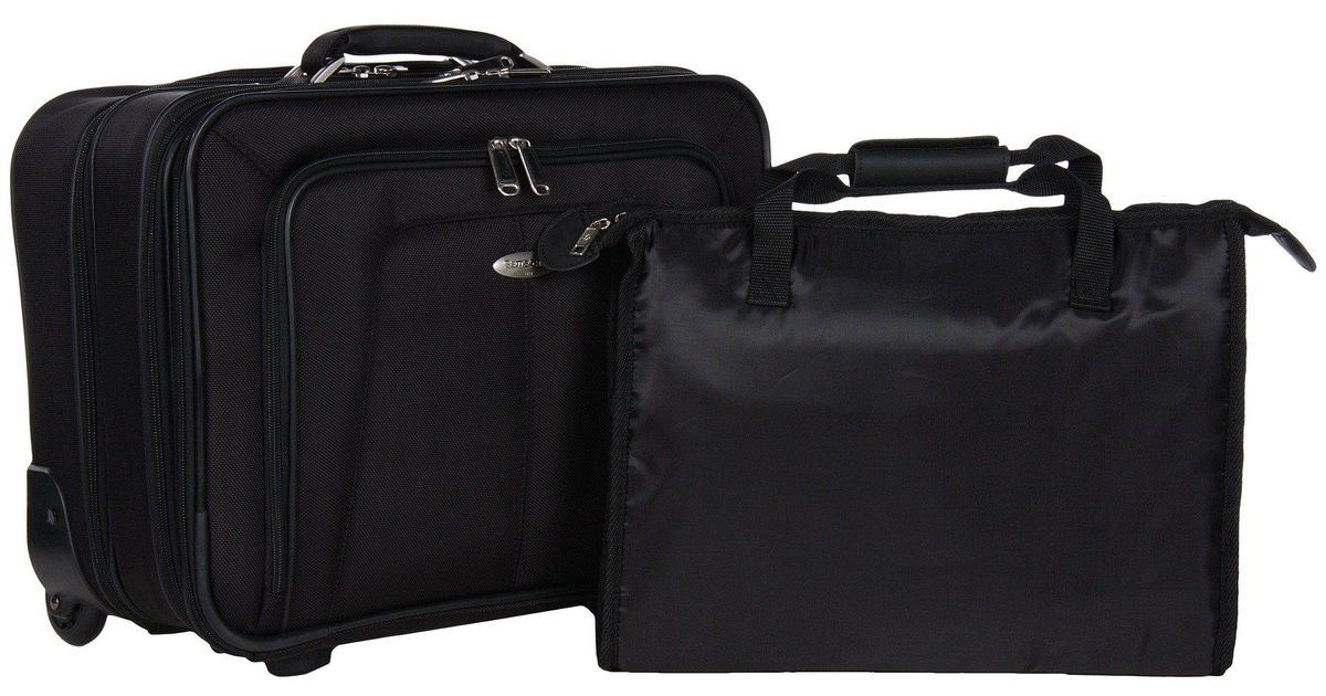 Lyst Samsonite Business One Mobile Office Black Briefcase Bags In