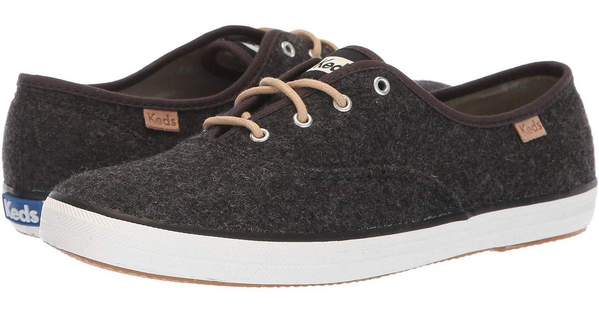 59e57b43f9e Lyst - Keds Champion Felt (charcoal) Women s Shoes in Gray