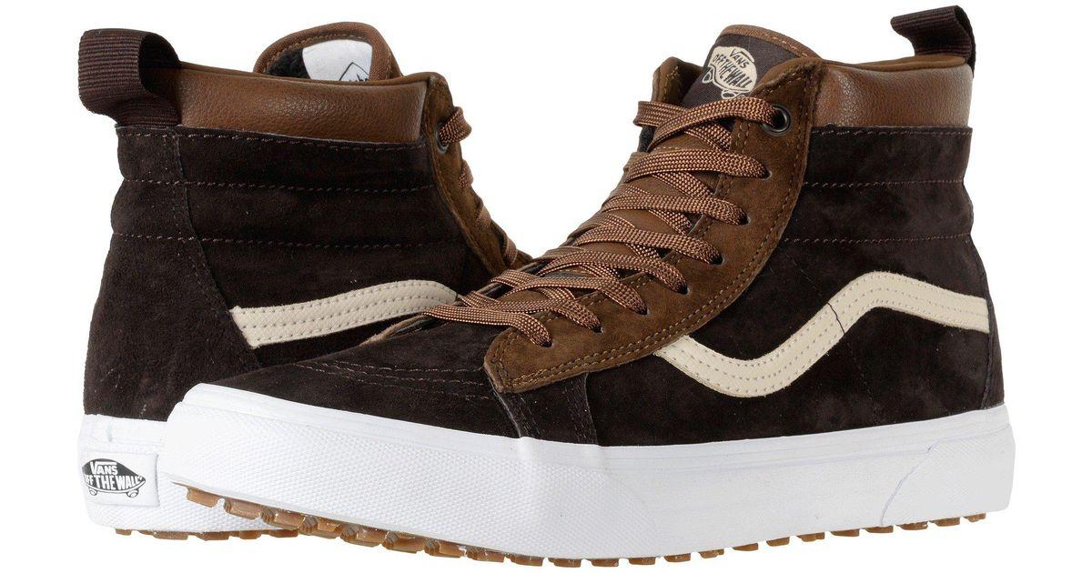 cfdd1366dd4381 Lyst - Vans Sk8-hi Mte ((mte) Black night) Skate Shoes in Brown