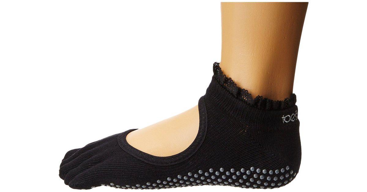 3156b233a Lyst - ToeSox Bella Full Toe W/ Grip (denim Lace) Women's No Show Socks  Shoes in Black