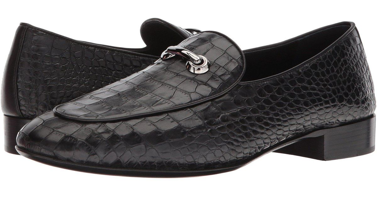 4cb599d7519 Lyst - Giuseppe Zanotti Cut Stamped Croc Loafer in Black for Men