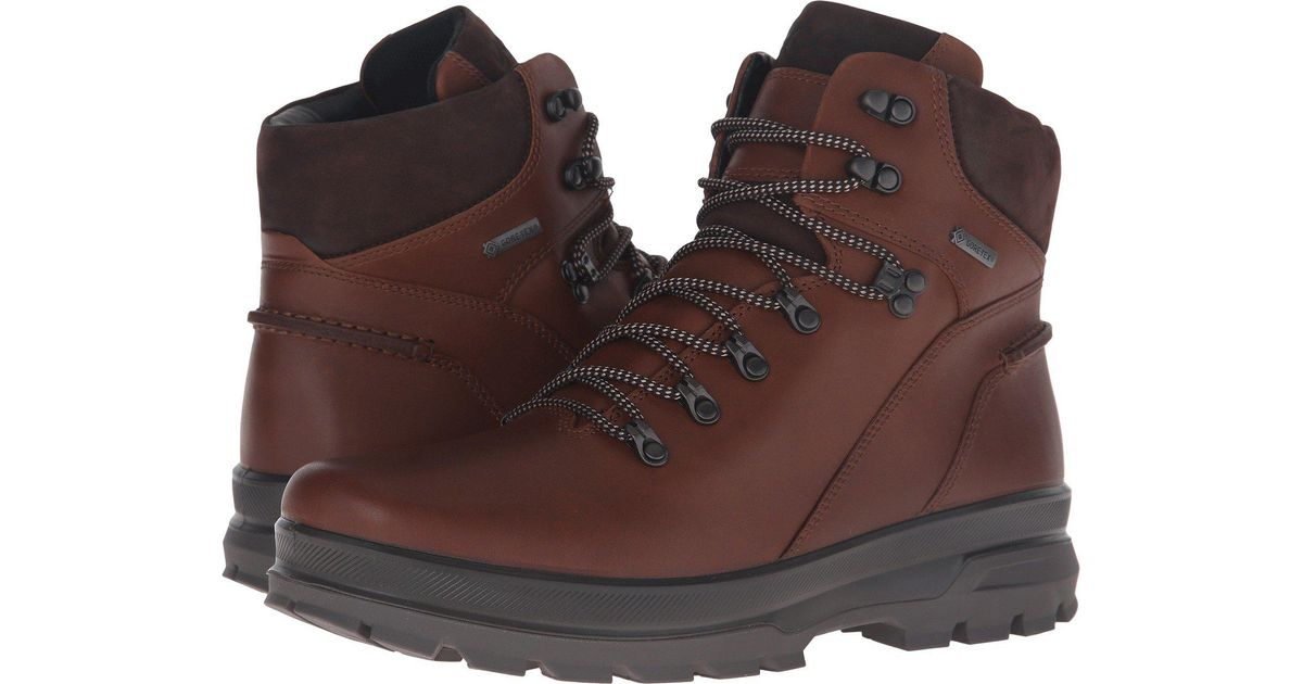 53ac5dc63 Ecco Rugged Track Gtx High Hiking Boot in Brown for Men - Lyst