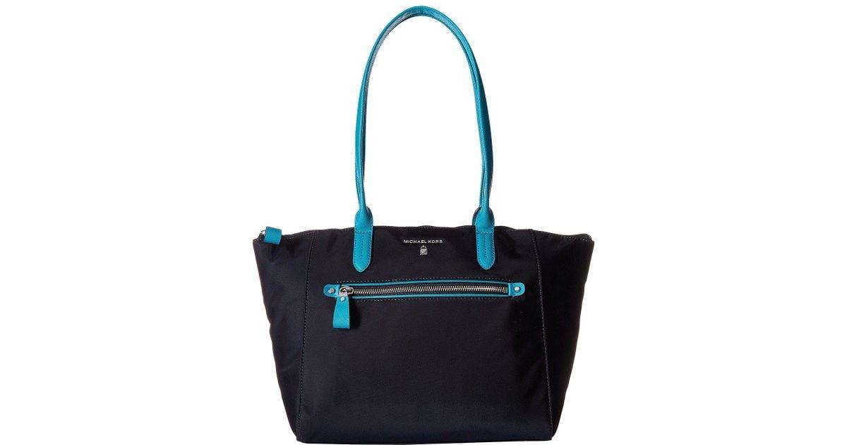 4150cfb772c1 Lyst - Michael Michael Kors Nylon Kelsey Medium Top Zip Tote in Blue