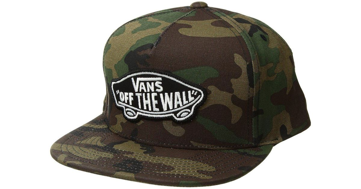 ee8e4ef92c Lyst - Vans Classic Patch Snapback Hat (classic Camo) Caps in Green for Men