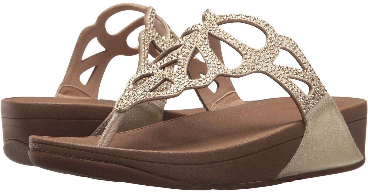 c265c9a28 Lyst - Fitflop Bumble Crystal Toe Post in Metallic