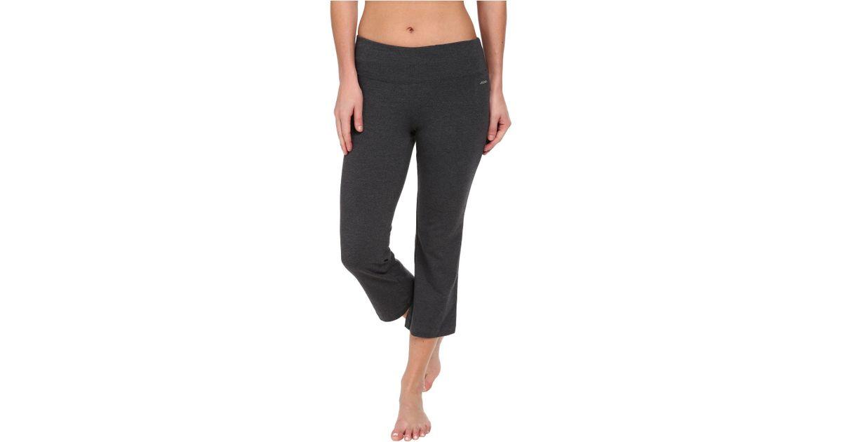 46117b2389f7c Jockey Active Slim Capri Flare (black) Women's Capri in Gray - Lyst