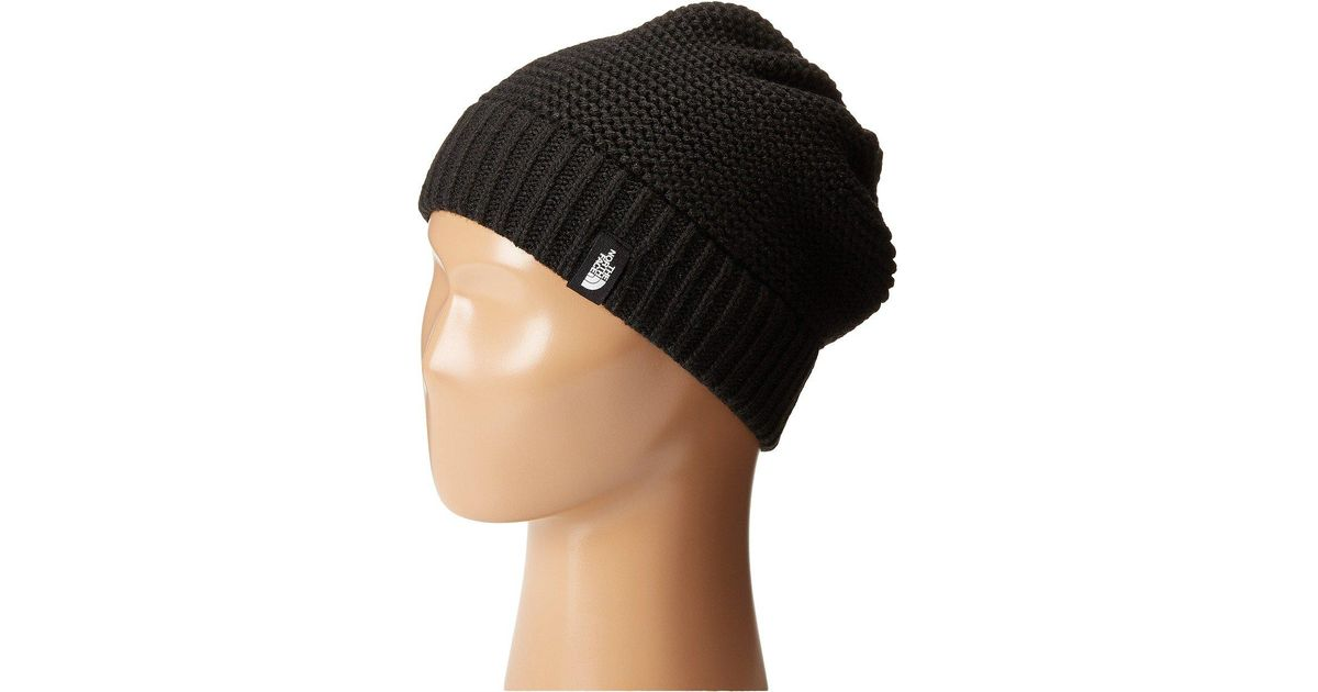 ea76615b37 Lyst - The North Face Purrl Stitch Beanie (four Leaf Clover) Beanies in  Black