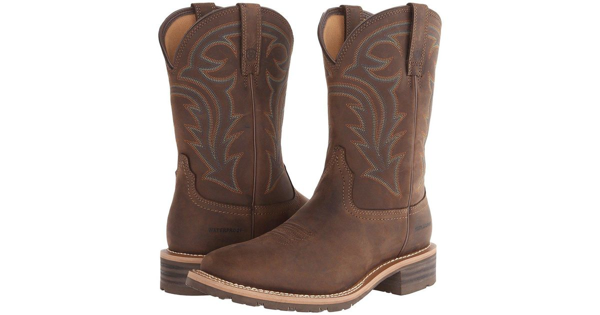 acf6b60cce5 Ariat - Hybrid Rancher Waterproof (oily Distressed Brown) Cowboy Boots for  Men - Lyst