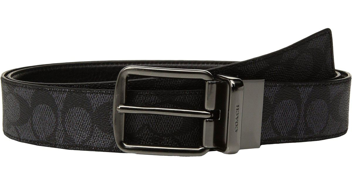 94d92523c8a36 Lyst - COACH Wide Harness Signature Reversible Belt (blue) Men s Belts in  Black for Men