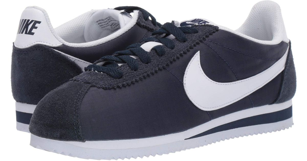 finest selection db1cb 956c8 Lyst - Nike Classic Cortez Nylon (pure Platinum white) Women s Classic  Shoes in Blue