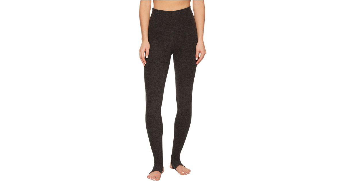 fc382387ed8a9 Lyst - Beyond Yoga High Waist Stirrup Leggings (black/charcoal Spacedye) Women's  Casual Pants in Black