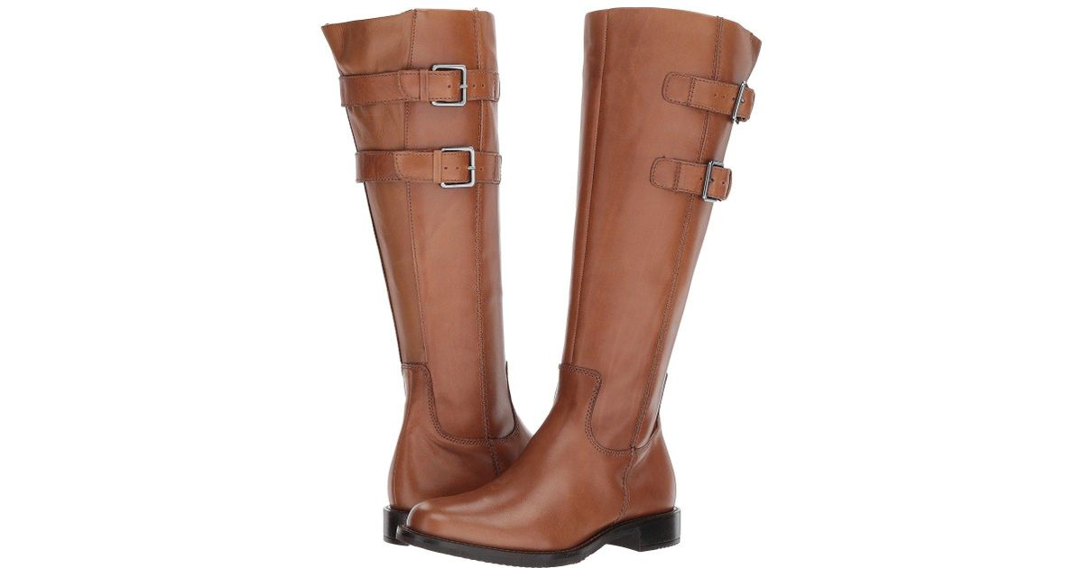 47d4487f417 Lyst - Ecco Shape 25 Tall Buckle Riding Boot in Brown - Save 35%