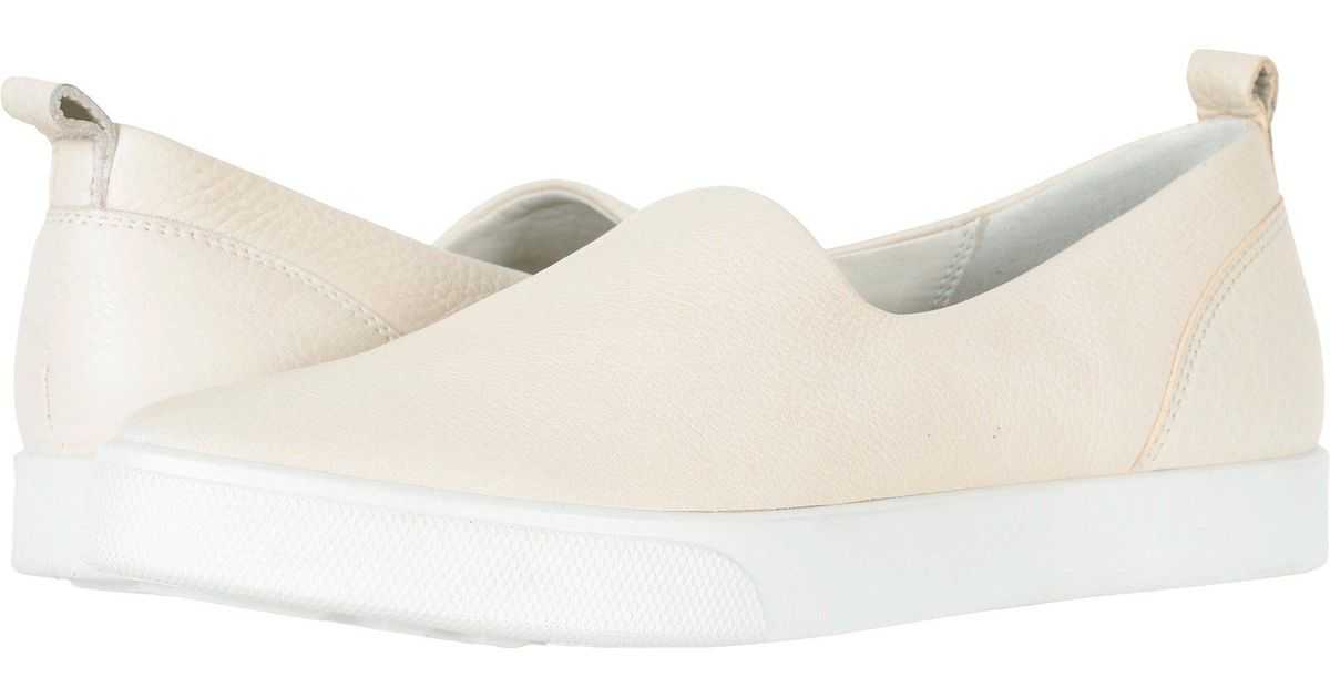 1e4a62b5 Ecco - White Gillian Slip-on (black/dark Silver Java Nubuck) Women's Slip  On Shoes - Lyst