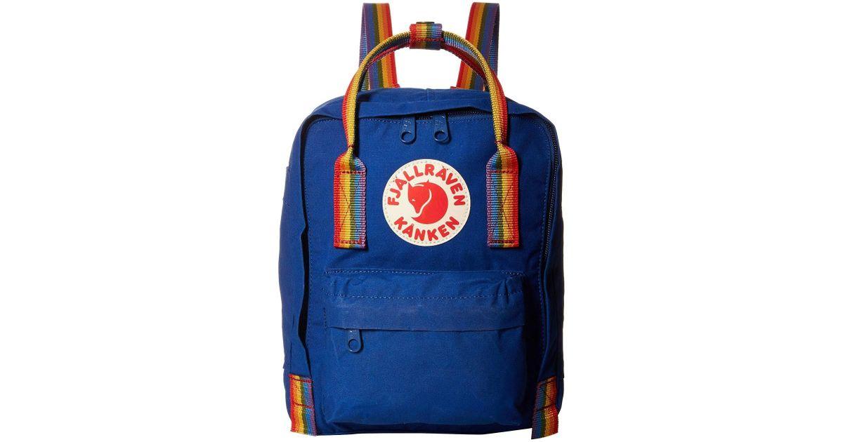 af9802bdb96 Fjallraven Kanken Rainbow Mini (deep Blue/rainbow Pattern) Backpack Bags in  Blue for Men - Lyst