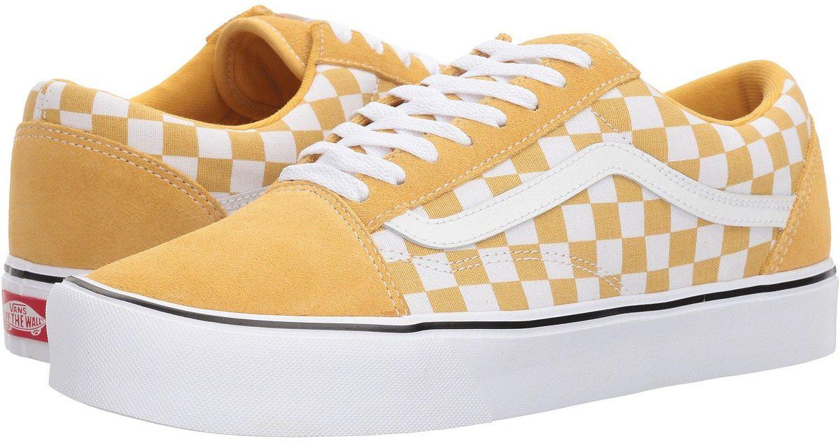 e9c2598b1a641f Lyst - Vans Old Skool Lite ((checkerboard) Black white) Skate Shoes in  White for Men